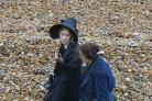 Saoirse Ronan and Kate Winslet while filming 'Ammonite' in west Dorset