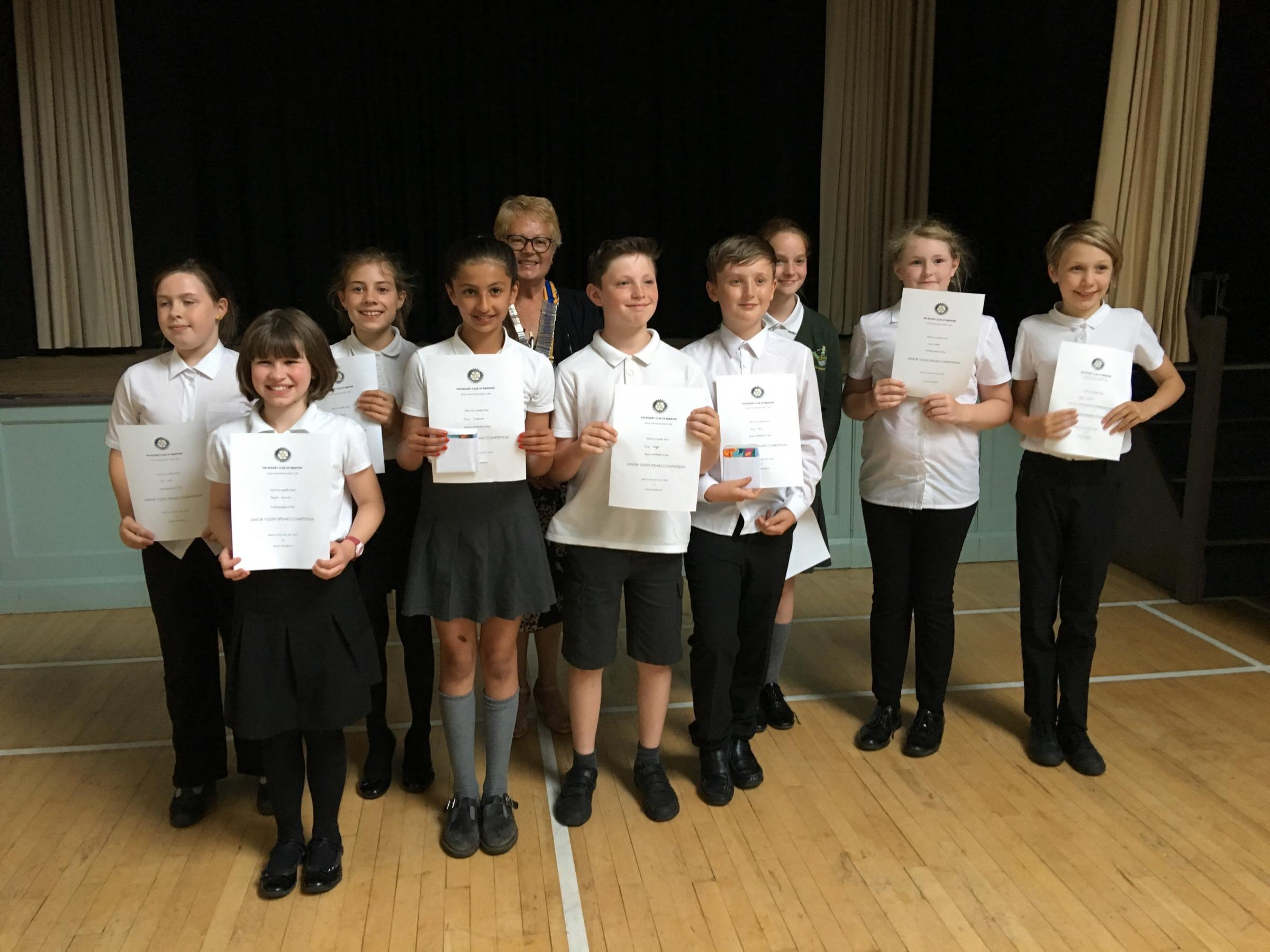 Bridport youngsters impress at Rotary's Youth Speaks