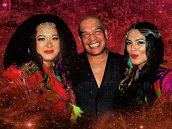 Steven Collazo performs with Kate Sutherland and Michelle John
