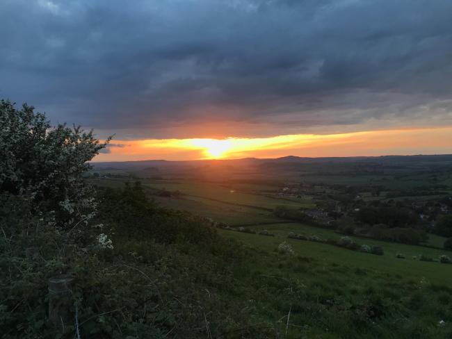 Sunset above Askerswell, pictured by Colin McReavie