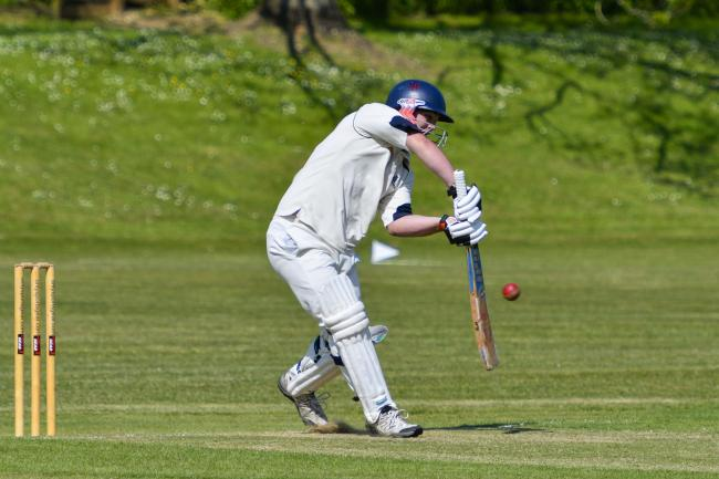 Beaminster's Lewis Keenan misses out against Puddletown Picture: GRAHAM HUNT PHOTOGRAPHY