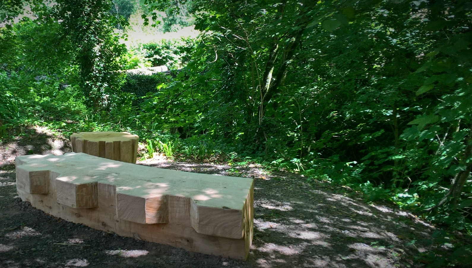 New seating and animal homes installed along the River Lim Path