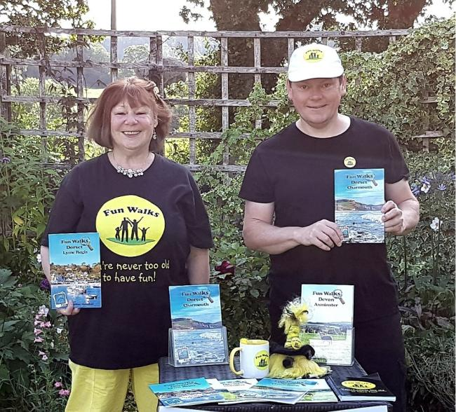Paul and Heather Hampton have launched a series of Fun Walks books