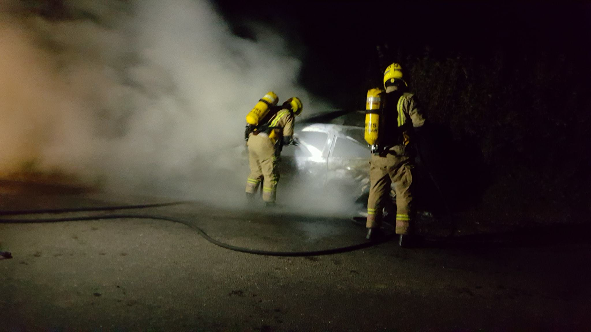 Car destroyed in early-hours fire near Beaminster