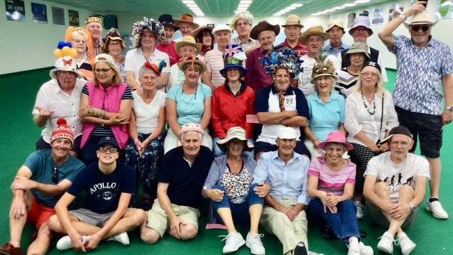 Bridport Indoor Bowls Club held a hat social on Bridport Hat week 					         Picture: KEITH JENKINS