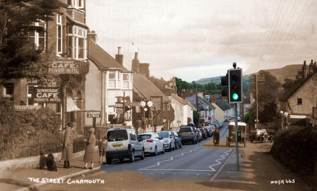 Talk on Charmouth then and now Picture: BILL BURN