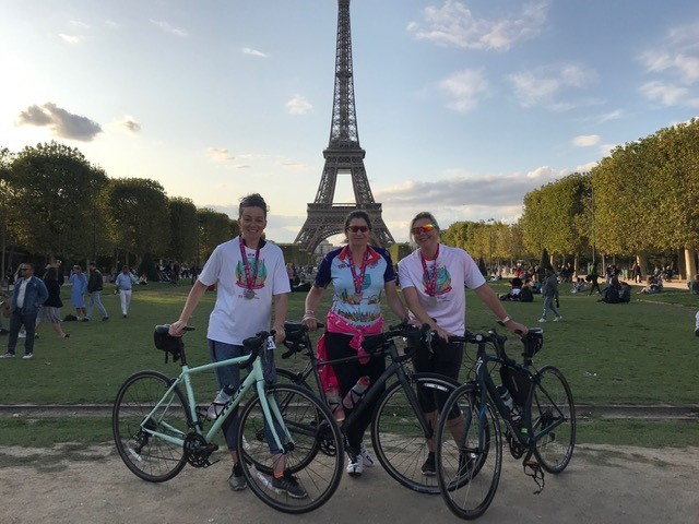 Mums' pedal power raises more than £5,000 for women's cancer charities