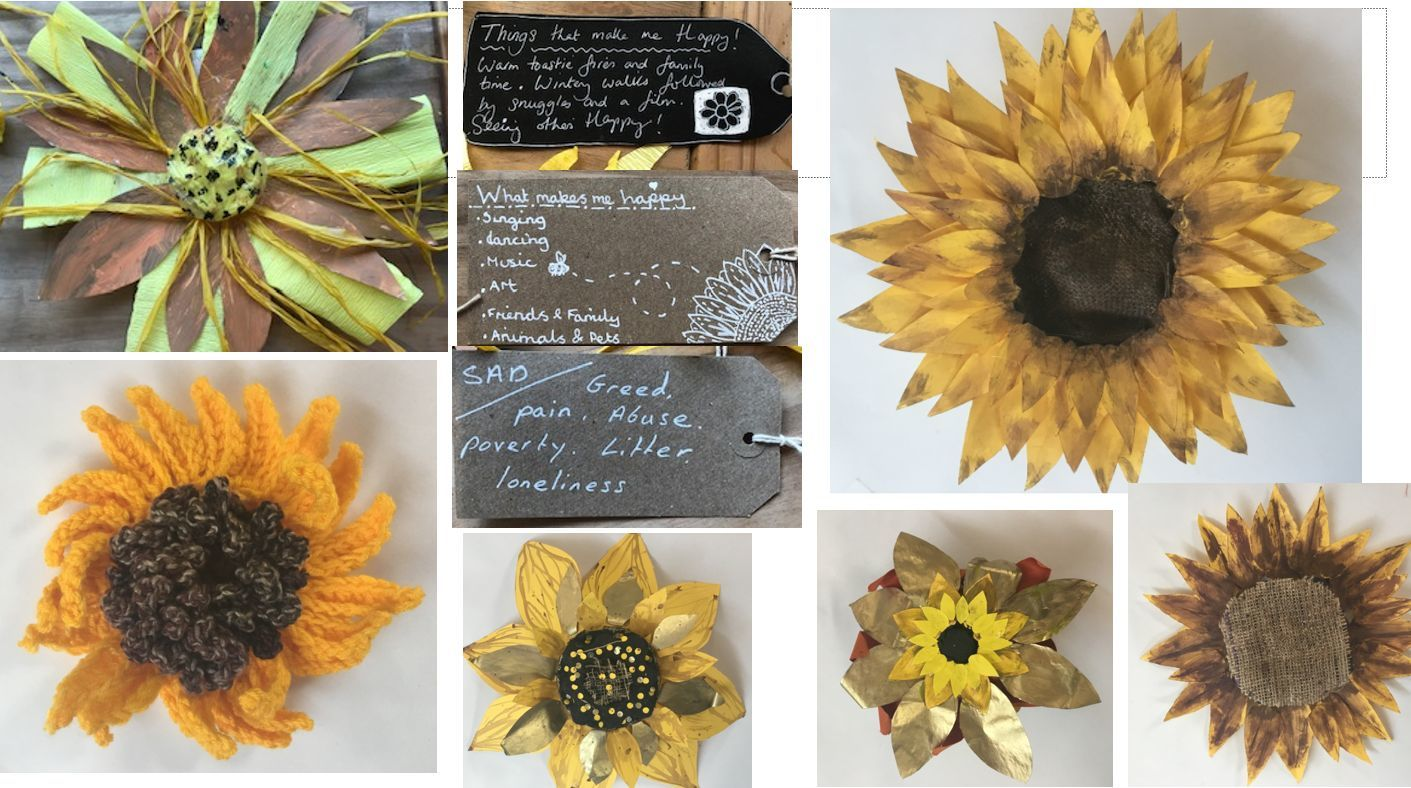 Make a sunflower and brighten up the town