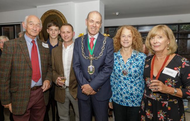 :  Paul Atterbury, Dylan O'Brien, Daniel O'Brien, Mayor and Mayoress Biggs, Janet Gleeson