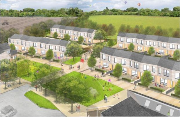 """alt=""""a graphic design of the intended housing development"""""""
