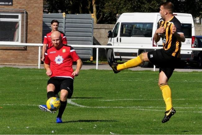 Will Gape handed Bridport a 1-0 lead against Buckland 		   Picture: STEPHEN BARRETT