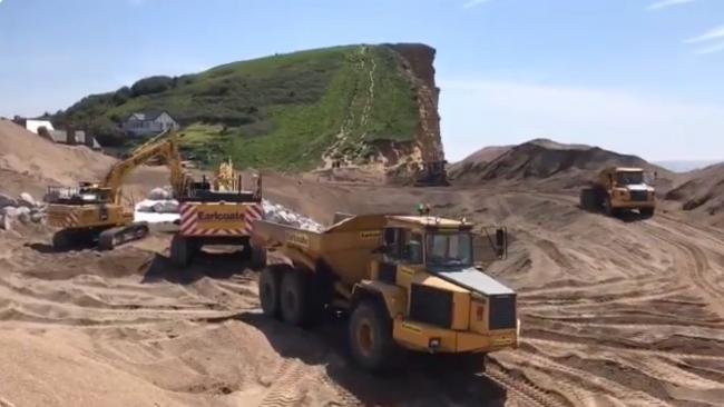 £10m sea defence work has been completed at West Bay