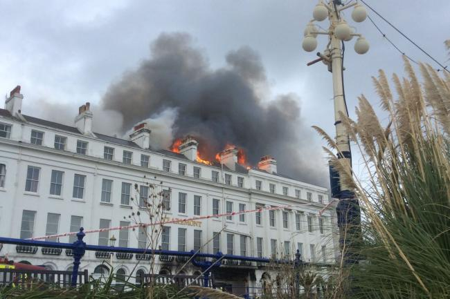 The fire at Claremont hotel in Eastbourne