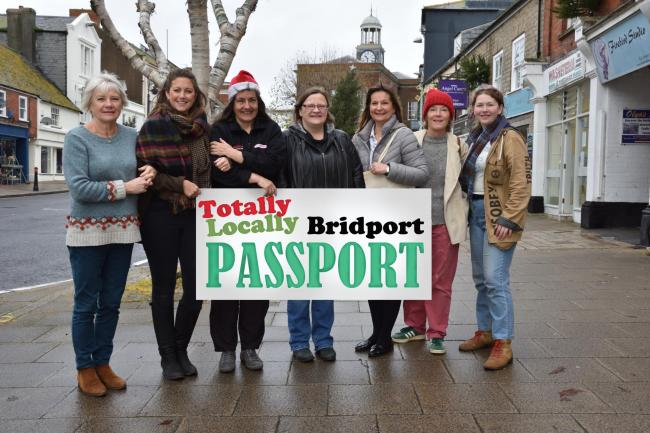 Shopkeepers involved in the new Totally Locally Bridport Passport Picture: TIM RUSS