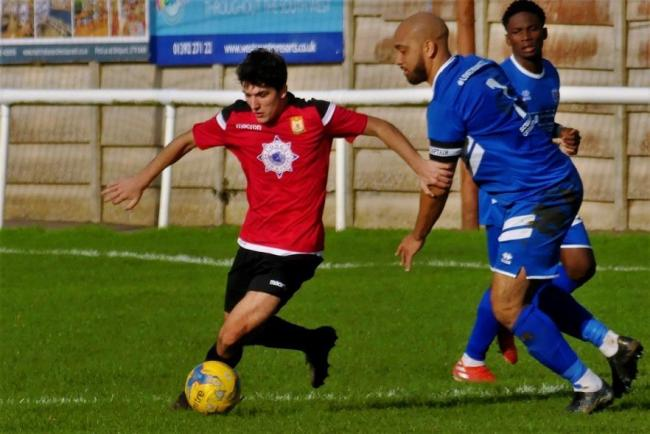 Striker Tony Pinder, left, is set to return for Bridport 			      Picture: STEPHEN BARRETT
