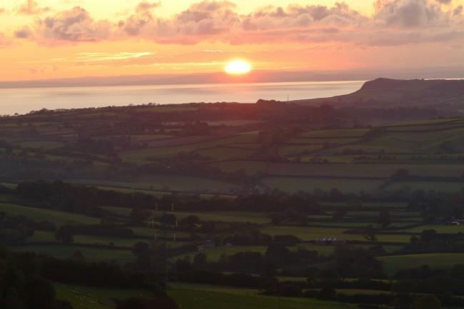 Sunset over west Dorset, pictured by Paul Coggins