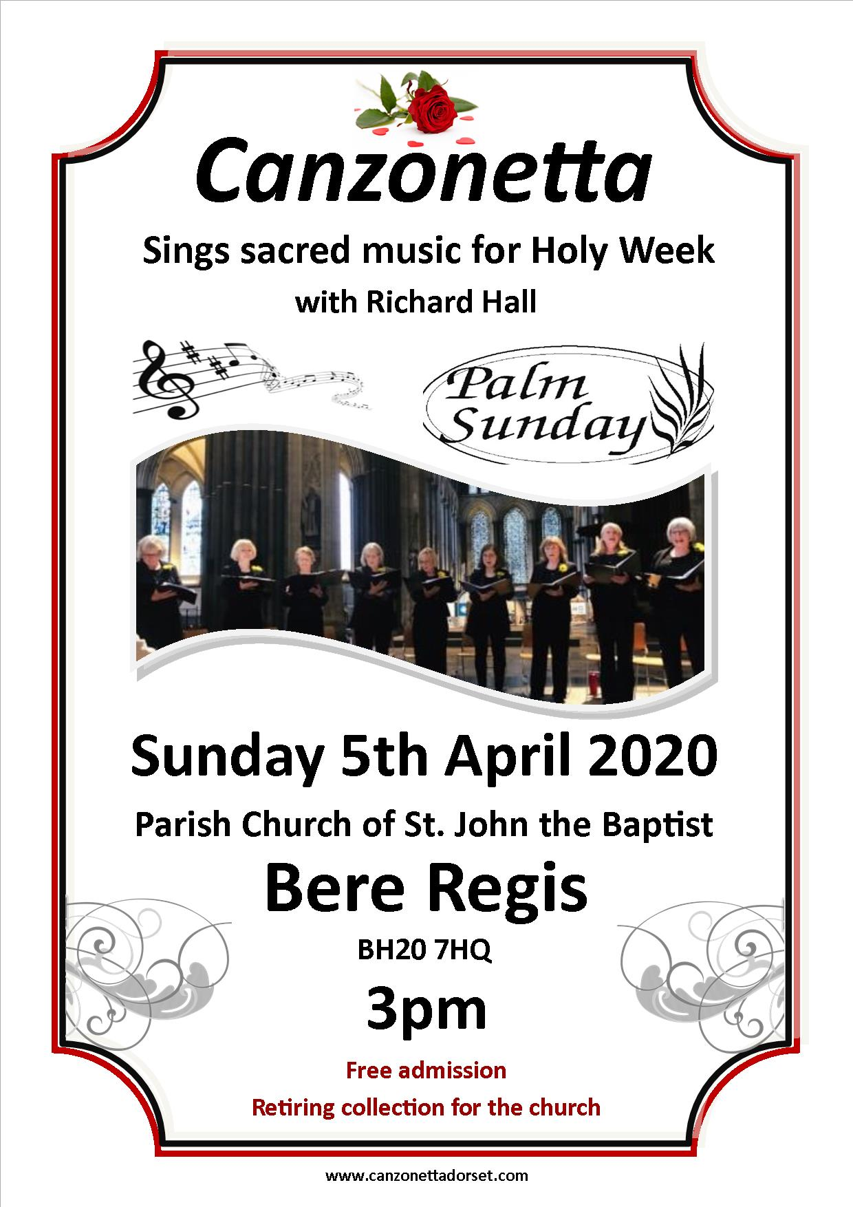 Canzonetta sings Sacred Music for Holy Week