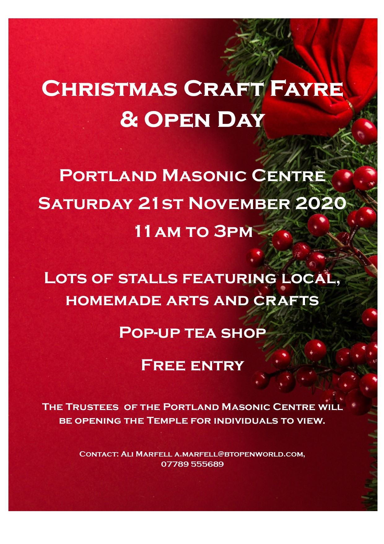 Christmas Craft Fayre & Open Day