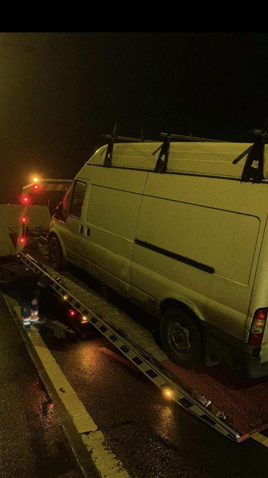 The seized van    Picture: Bridport Police