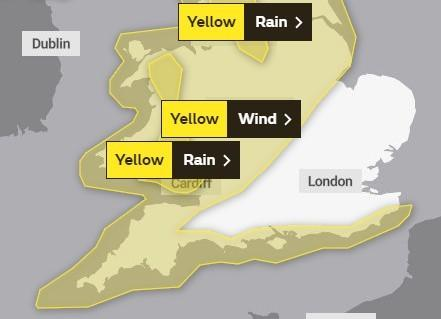 Weather warnings for Dorset have been issued Picture: Met Office