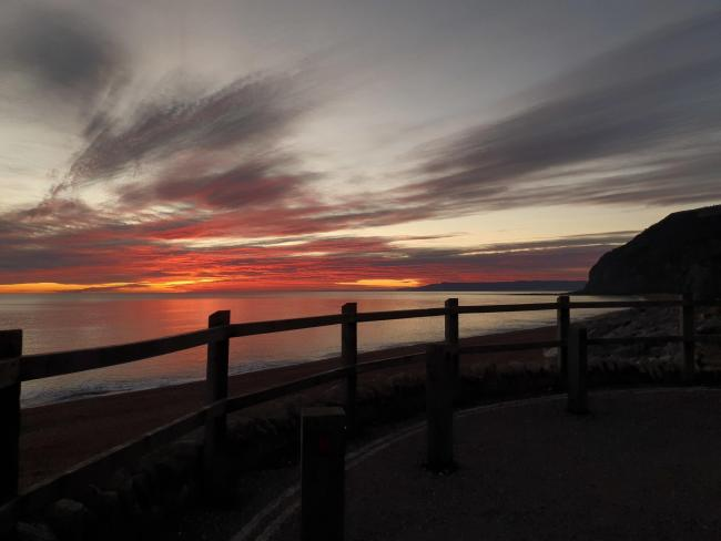 Winter sunset at Seatown, pictured by Megan Baylis