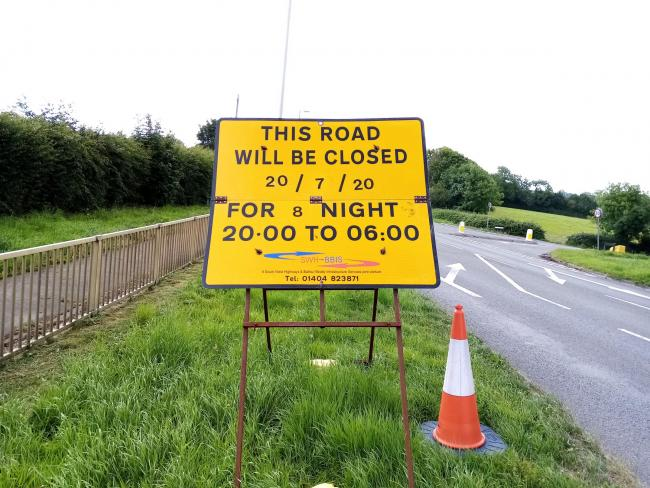 A35 closures in place