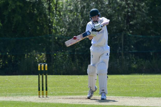 Martinstown's Teddy Andrews plundered 78 from 49 balls  Picture: GRAHAM HUNT PHOTOGRAPHY