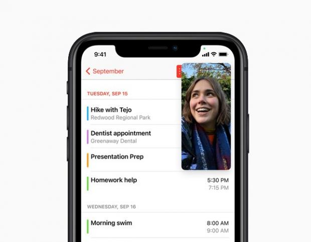 Bridport and Lyme Regis News: With Picture-in-Picture, users can watch a video or take a FaceTime call while using another app. Picture: Apple