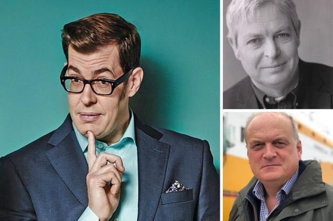Richard Osman, left, has withdrawn from the festival, whilst Jonathan Coe, top right, and Barney White-Spencer, bottom right are due to appear