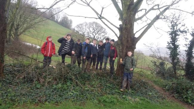 The Corfox students worked tirelessly despite the weather Picture: Sir John Colfox Academy