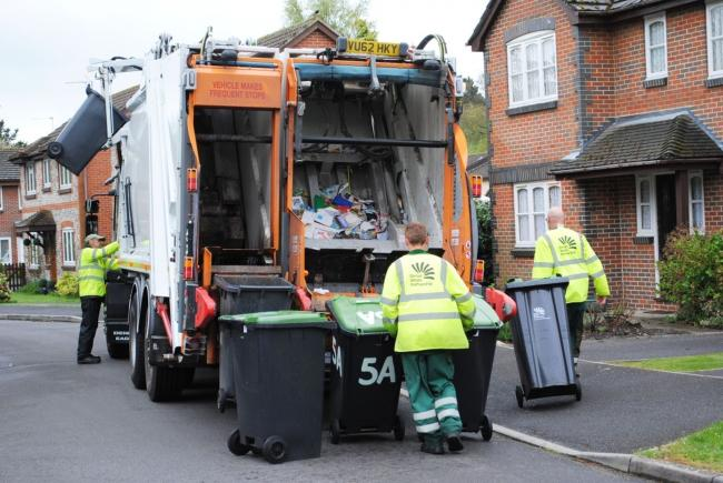 Dorset Waste Partnership collection team in action. Picture: Dorset Waste Partnership