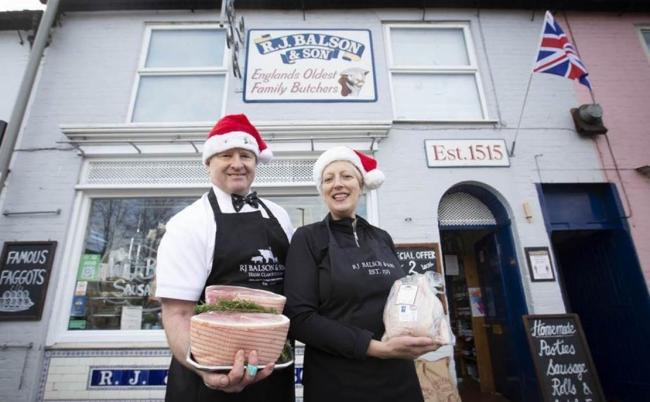 Allison and Richard Balson, owners of Britain's oldest butcher shop Picture: WhatsApp