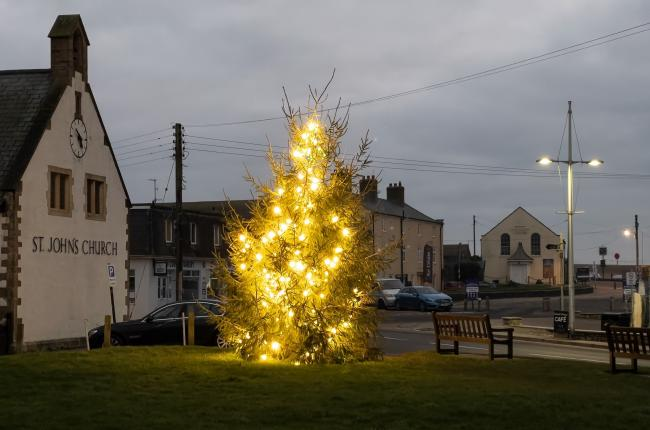 The Christmas Tree on the Green will remain in place until February Picture: West Bay Days