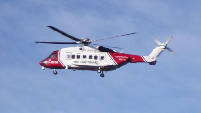 Teenager airlifted after getting into difficulty at sea