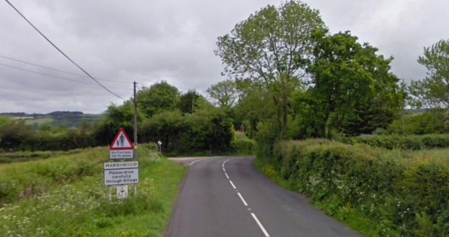 B3165 in Marshwood. Picture: Google