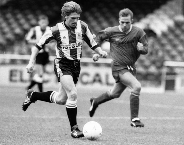 Bridport and Lyme Regis News: Kevin Hodges, left, playing for Plymouth in 1992 Picture: PLYMOUTH HERALD