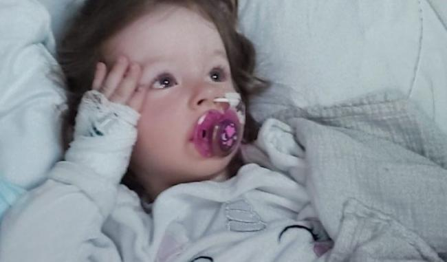 More than £6,500 has been raised for 2-year-old Lara Symes after she suffered a stroke last week