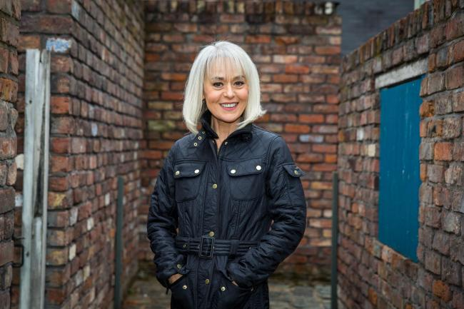 Tracie Bennett as Sharon Bentley Picture: ITV