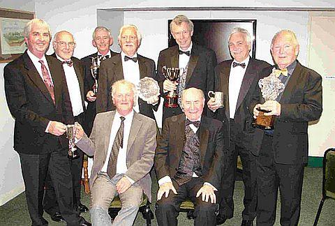 TROPHY HAUL: Award winners at Lyme Regis Golf Club's senior presentation