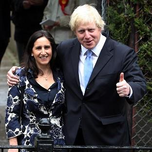 Boris Johnson and his wife Marina Wheeler leave their local polling station in London after voting in the mayoral and council elections