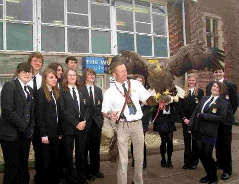 Martin Ballam from Xtreme Falconry Ltd visited Year 11 students at The Woodroffe School