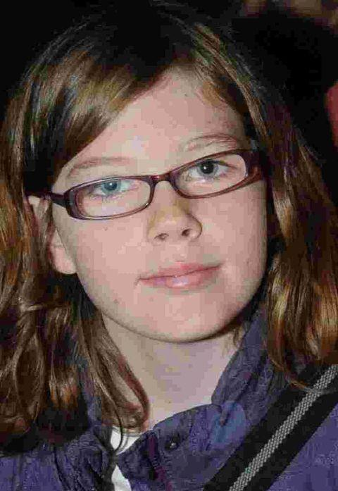Katie McGoran, 12, who was injured in a collision with a car in Pound Road