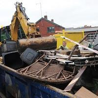 Some tips began to levy a tax on waste dumped from skips at 64 pounds a tonne, instead of the previous two pounds fifty pence