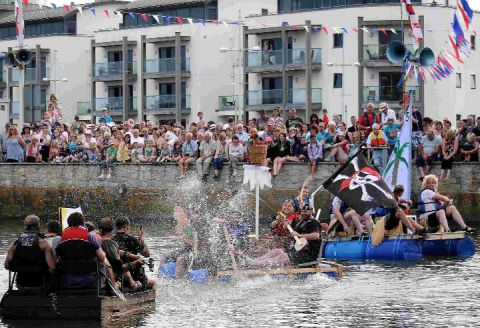 ACTION STATIONS: Raft race fun