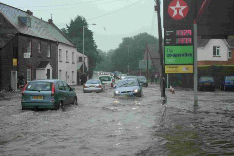 FLOODS: the A35 in Bridport