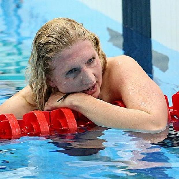 Rebecca Adlington was happy with her efforts despite finishing third