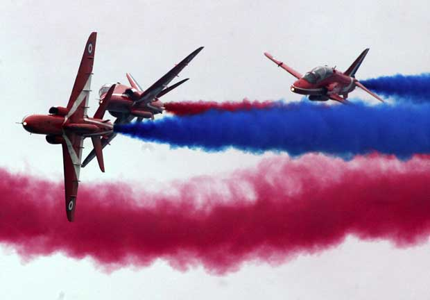 The Red Arrows are confirmed for Lyme Regis Lifeboat Week
