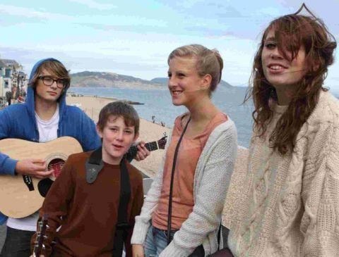 A group of youngsters perform on the seafront as part of B Sharp's Beside the Seaside busking festival last year