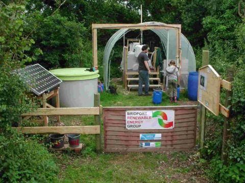 Dorothy the digester at work as part of the Bridport Renewable Energy Group project