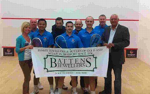 EXCELLENT WIN: Bridport with representatives from sponsors Battens Jewellers